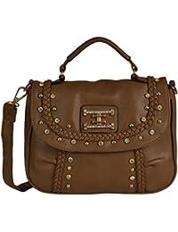 Lavu&me Women's Satchel,girls Sling Bag &cross Body Bag ,handbag (light Brown, Beige Casual Slingbag LE053C)
