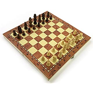 Chess Set Fold Away Board Quality Handmade Wooden Pieces Complete FIDE Compliant Stimulate Your Brain Exercise Your Mind 24 cm 240 mm 10 inch