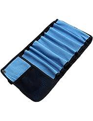 Durable Roll Up bolsa para tornillos de hielo 8caso de almacenamiento de protección y organizar equipos de escalada de hielo accesorios, azul