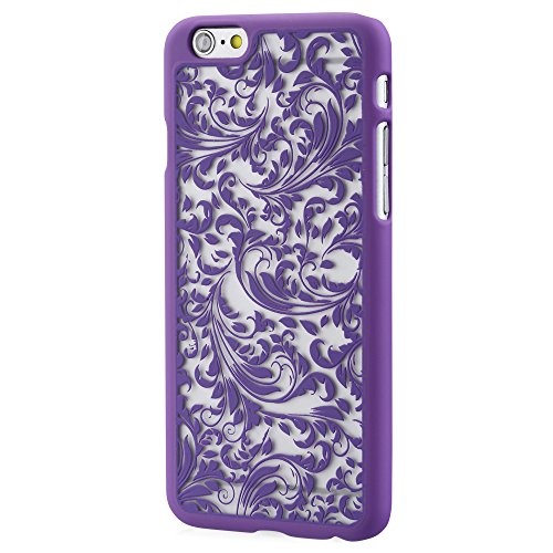 """Vena Apple iPhone 6 Case (TACT QUILL)(ULTRA SLIM FIT) Hard Rubber Coating Back Case Cover for Apple iPhone 6 (4.7"""") - Radiant Orchid Lila"""