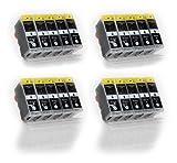 20x schwarz XL Druckerpatronen zu Canon PGI-5BK für Canon PIXMA MP500 510 520 530 600 600R 610 800 800R 810 830 960 970 MX700 MX850 iP3300 4200 4200X 4300 4500 4500X 5200 5200R 5300 6600 6600D