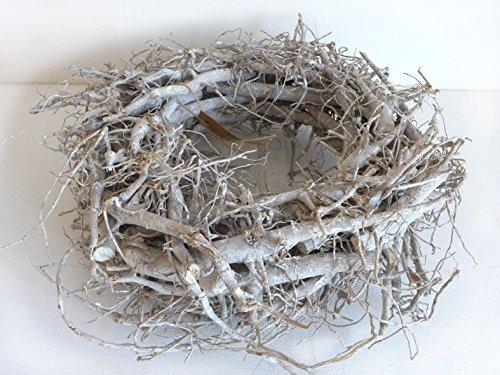 Toller Wurzelkranz grau weiß gekälkt Kranz Ø 30 cm Dekokranz Holzkranz