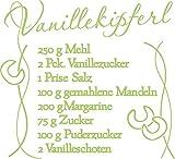 graz-design Wandtattoo Tattoo Aufkleber für Weihnachten Rezept für Vanillekipferl Linien (62x57cm//822 water lilly)