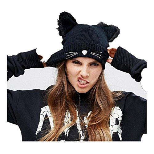 Muster Stricken-wolle-skull-cap (stricken Hut , Kobay Frauen Baggy Warm Crochet Winter Wolle stricken Ski Beanie Skull Slouchy Caps Hut)