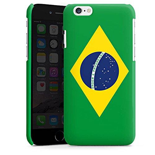 Apple iPhone 5s Housse Étui Protection Coque Brésil Drapeau Ballon de football Cas Premium brillant