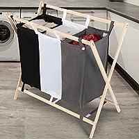 Jago Wäschekorb Wäschesortierer Wäschebox Wäschewagen mit 3 praktischen Wäschebeutel