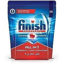 Finish Dishwasher Detergent Tablets, All in One Lemon, 28s