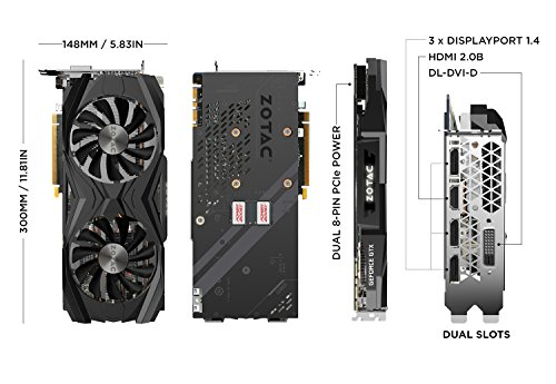 Cheap Zotac NVIDIA GeForce GTX 1080 Ti 11 GB AMP Edition Graphics Card – Black on Amazon