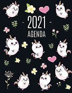 Kawaii Unicornio Agenda 2021: Planificador