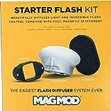 MAGMOD Starter Flash Kit–Set de modificadores de luz para flashes externos Incluye maggrip de soporte, magsphere de difusor y maggrid de panal