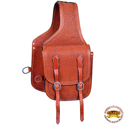 HILASON bg106F Western Leder Cowboy Trail Ride Pferd Satteltasche