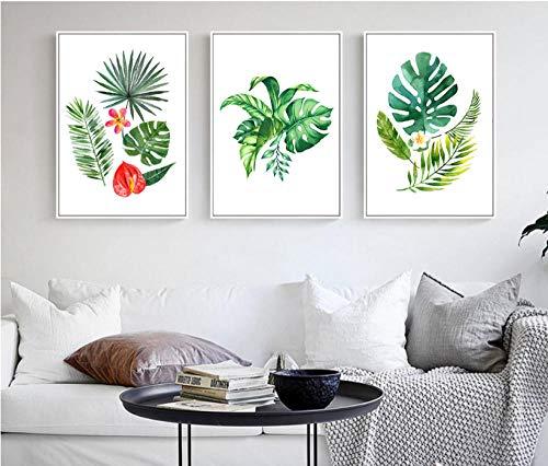 Leinwand Gemälde Leinwanddrucke Druck Auf Leinwand Kunstwerk Wandkunst Ölgemälde Nordamerikanischer Baum Für Zuhause Büro Wohnzimmer Home Dekoration 50x70cmx3pcs(kein Rahmen)