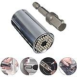 Universal 7 - 19 mm llave de Tubo Grip Universal llave de vaso adaptador taladro eléctrico herramienta de 2 piezas