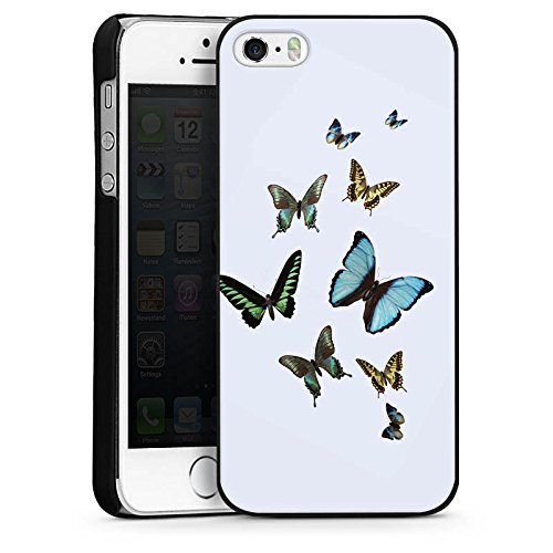 Apple iPhone 6 Housse Étui Silicone Coque Protection Papillon Papillons couleurs CasDur noir