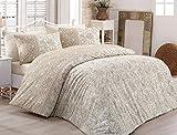 Biancheria da letto set di lenzuola 100% cotone Katja caffè modello orientale marrone, Cotone, multicolore, 200x220