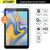 Atump 2 x Samsung Galaxy Tab A 10.5 2018 Screen Protector Glass Film Guard, [2 Pack] [Anti Scratch] Premium Tempered Glass Screen Protector for Galaxy Tab A 10.5 2018