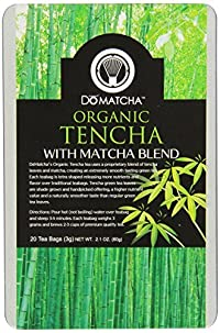 DoMatcha Green Tea, Organic Ten-Cha with Matcha Blend, 20-Count Tea Bags