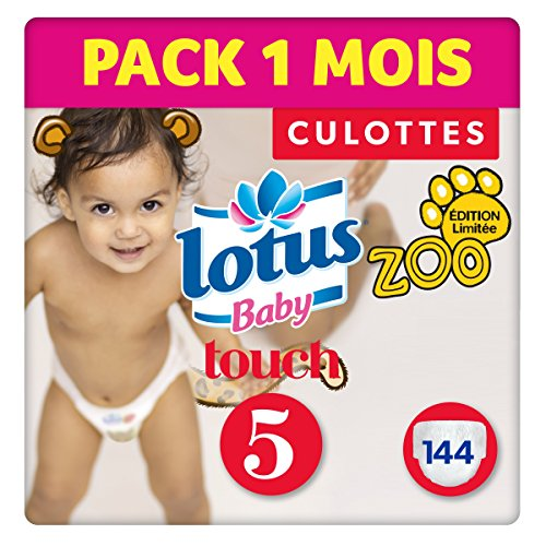 Lotus Baby Touch - Couche Culotte Taille 5 (13-20 kg)  Pack 1 mois (144 couches Culottes)