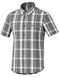 Shimano Transit Check Button Up - Maillot manches courtes - gris/blanc 2017 maillot cyclisme homme