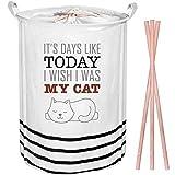 57,1cm extra large pieghevole portabiancheria lavanderia | tela lavanderia organizzatore bag | cesto portabiancheria | coperta cestini contenitori | Toy Storage box Toy Chest organizer-My Cat