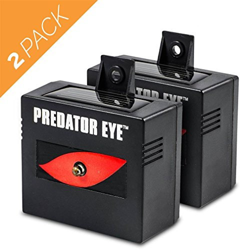 Aspectek Predator Eye Nighttime Solar Powered Animal Repeller - 2 Pack, Waterproof, Deterrent Light Nocturnal Animals. Protects & safeguards your home, field, livestock.