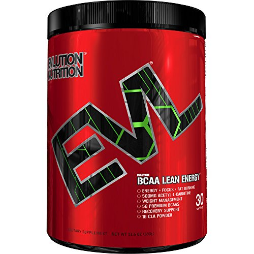 Evlution Nutrition BCAA Lean Energy – Energizing Amino Acid for Muscle Building Recovery and Endurance, With a fat burning formula, 30 Servings (Cherry Limeade)