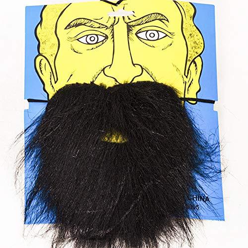 Pveath 6Realistische Fake Schnurrbart, Schwarz Funny Bart für Party Halloween Cosplay Supplies, ()