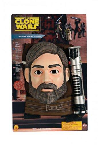 Kenobi Kinder Wan Obi Kostüme (Obi-Wan Kenobi Star Wars Kinder Kostüm mit Lichtschwert Universalgröße 116 bis)