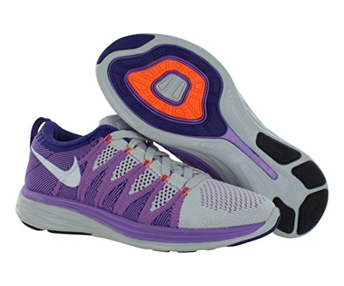 NIKE FLYKNIT LUNAR2 Pure Platinum/White/Atomic Purple/Court Purple
