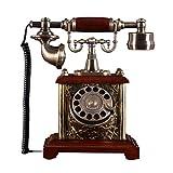 CHLIGUODHJ Citofono Antico a Corda Telefono Vintage con quadrante Rotante Stile Vintage, Telefono Fisso Vintage Classico Fisso per casa e Ufficio, Una varietà di Stili tra Cui Scegliere (Stile : Ab)