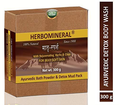 HERBOMINERAL Ayurvedic Bath Powder & Detox/D-tan Shower & Bath Body Wash - 300Gm