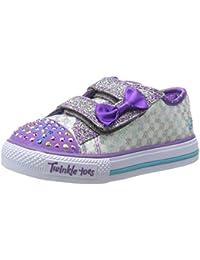 Skechers Shuffles?Sweet Steps, Sneakers per bambine e ragazze, Argento