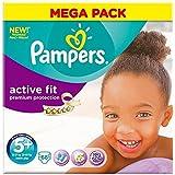 Pampers active Junior Plus 13-27kg 5 + Fit Taille (68) - Paquet de 2