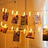 Quace 20 Pcs Photo Clips String Light Battery Powered(Not Included) Diwali Christmas Wedding Festival Decoration Light