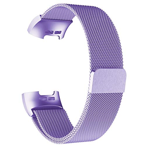 AdePoy Replacement Strap Bands Compatible For Fitbit Charge 3, Stainless Steel Milanese...