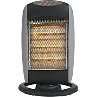 Status Portable Oscillating Halogen Heater, 1200 W, Grey