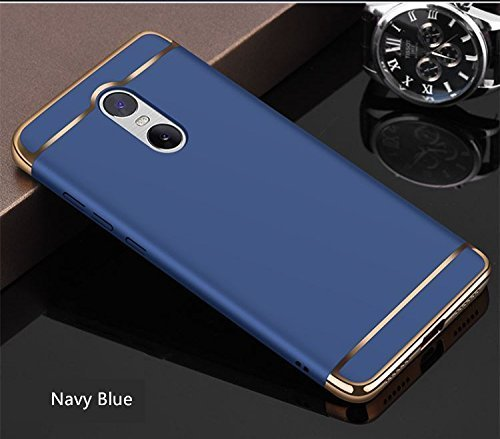 promo code 747c2 e37c9 Redmi Note 4 Cover, Mi Note 4 Case, 3in1 Shockproof Sleek Ultra Slim Case  Cover For Xiaomi Note 4 [ Indian Redmi Note 4 Mobile Back Case ] - Blue