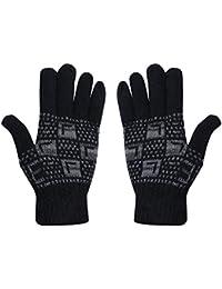 Stylathon Unisex Woolen Thermal Winter Gloves( ,Black,Free Size)