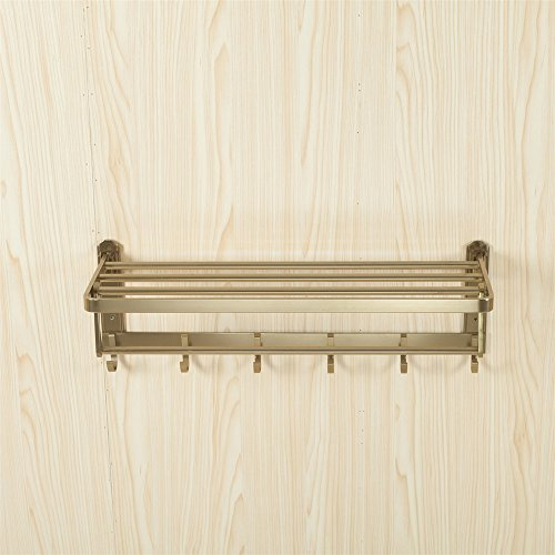 GUJJ Badezimmer Anhänger, Raum Aluminium Bad Handtuchhalter, Double Deck Badezimmer Rack -