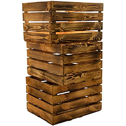 Juego de 3Massive fruta (manzana caja Vino Caja de madera multiusos + + + 49x 42x 31cm