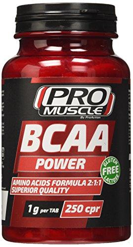Promuscle bcaa power - confezione da 250 compresse