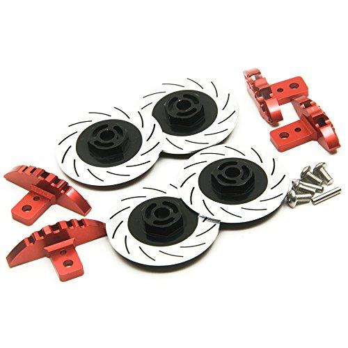 Preisvergleich Produktbild XUNJIAJIE 1 Set Aluminum Caliper & Brake Disc Set for Racing Car Sakura D4 AWD/RWD (Schwarz)