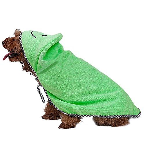 VLUNT Albornoz de Mascotas Toallas para Perro Secado rápido de Microfibra y Hidrófugo Toalla Seca para Baño Toalla Absorbente Súper Suave para Perros y Gatos