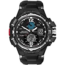 Relojes deportivos digitales al aire libre del hombre del reloj de manera de lujo Reloj dual del reloj análogo análogo masculino del cuarzo de la exhibición del LED