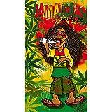 Unbekannt Strandtuch Jamaica Kultur Handtuch, Frottee, Velours Bedruckt 95x 175cm