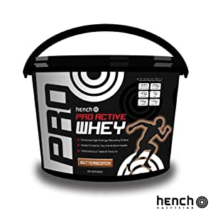 4KG HENCH NUTRITION PRO ACTIVE WHEY PROTEIN POWDER SHAKE DRINK - BUTTERSCOTCH