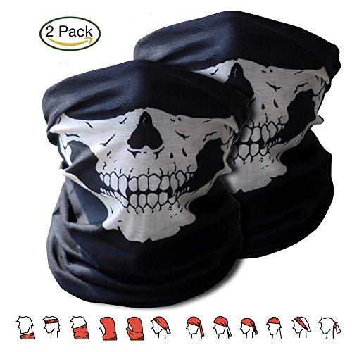 2x-Premium-Multifunktionstuch-Sturmmaske-Bandana-Schlauchtuch-Halstuch-mit-Totenkopf-Skelettmasken-fr-Motorrad-Fahrrad-Ski-Paintball-Gamer-Skull-Mask