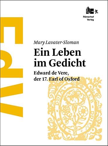 Shakespeare Ein Leben Im Gedicht Edward De Vere Der 17