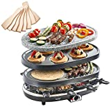 Best Raclette Grills - VonShef 8 Person 3 in 1 Raclette Grill Review