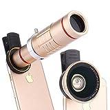 BECEMURU HD Clip-on Kit Obiettivo Universale 18x Zoom teleobiettivo + 15x Super Macro Lens + 0.6x Grandangolo per iPhone, Samsung S7/S7Edge/S8/S8Edg